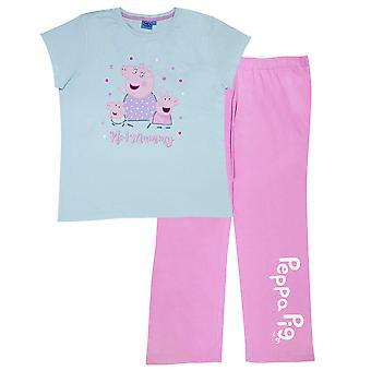 Peppa Gris Dame / Ladies Nummer 1 Mummy Pyjama Sæt