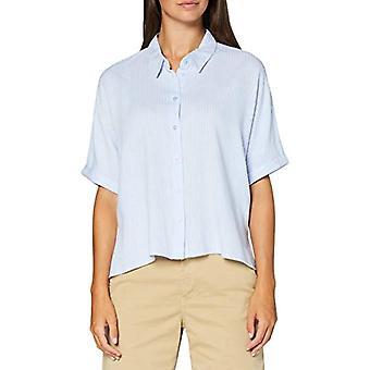 Tom Tailor Streifenbluse T-Shirt, 23207-Blu Bianco Verticale, 34 Donna