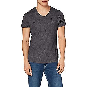 Tommy Jeans Tjm Slim Jaspe V Neck T-Shirt, Svart, XXL Herr