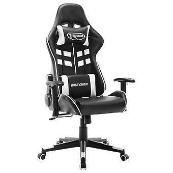 vidaXL Gaming Chair Zwart-wit kunstleer