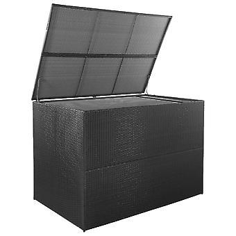 vidaXL Tuinbox Zwart 150x100x100 cm Poly Rotan