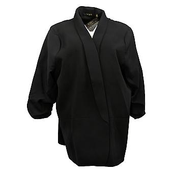 IMAN Global Chic Women's Plus Everyday Blazer Black 740717