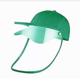 28Cm * 25 سم * 1 سم الأخضر كامل الوجه قبعة البيسبول مع غطاء الوجه القابلة للإزالة x3738
