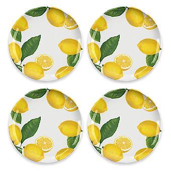 Epicurean Lemon Fresh Set of 4 Melamine Dinner Plates