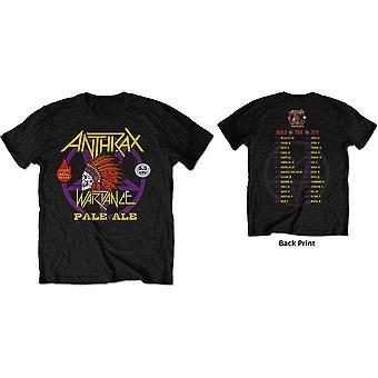 Anthrax - War Dance Paul Ale World Tour 2018 Men's X-Large T-Shirt - Black