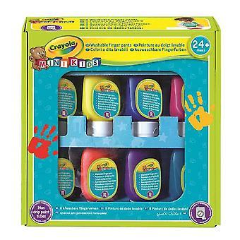 Geschilderde Crayola Vingers Wasbaar