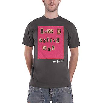 The Sex Pistols T Shirt Have a Rotten Day new Official Mens Charcoal Grey