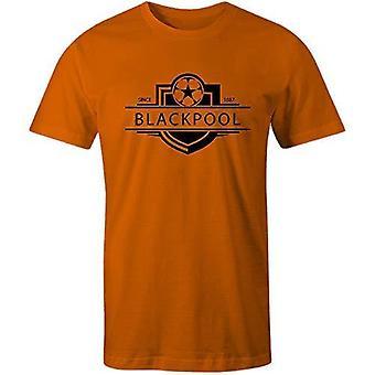 Sporting empire blackpool 1887 established badge kids football t-shirt