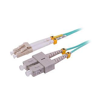 Pro2 2mm dupleks om3 fiber patch bly lc til sc