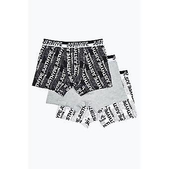 Hype Boys AOP Boxer Pantaloni scurți (Pachet de 3)