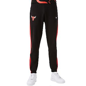 Ny æra Herre Chicago Bulls NBA Team Logo Sweatpants Track Bukser Joggers - Sort