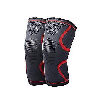 Elastische antislip thermische sport kniebeschermers nylon gebreide beschermende uitrusting buiten rijden