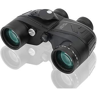 Binóculos marinhos 10x50, binóculos com visão noturna, rangefinder e bússola, para esportes aquáticos