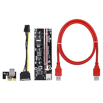 RiserKarte 009s Pcie 1x auf 16x Extender 6pin Stromkabel für Grafikkarte