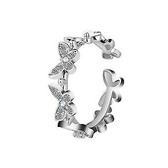 3PCS Alloy  Fashion  Butterfly Rings Insect Open Adjustable Finger Rings for Girls Wedding Jewelery
