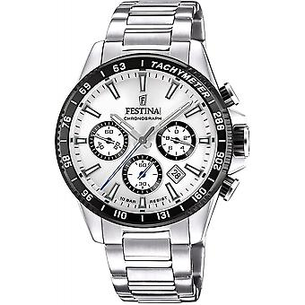 Festina F20560-1 Men's Chronograph Stainless Steel Bracelet Wristwatch
