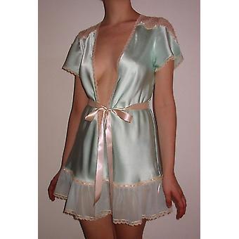 Ribbon Tie Silk Robe