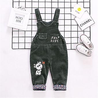 Toamna Corduroy Baby Cartoon Denim Baby Rompers-Bib Copii Salopete bumbac Baby