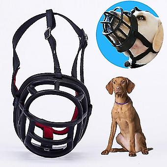 Dog Muzzle Prevent Biting Chewing and Barking Allows Drinking and Panting, Size:
