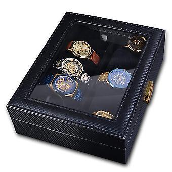 10 Slots Black Watch Box Portable Travel