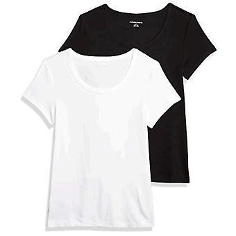 Essentials Kvinders 2-Pack Slim-Fit Cap-Sleeve Scoopneck T-shirt