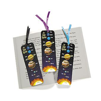 LAST FEW - 48 Solar System Space Card Bookmark Party Bag Fillers for Kids