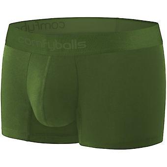Comfyballs Men's Wood Regular Boxer Shorts Fitness Underwear - Ghost Olive