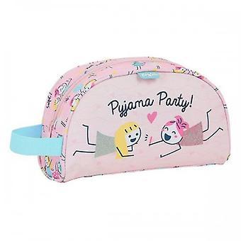 School Toilet Bag Glow Lab Best Friends Pink