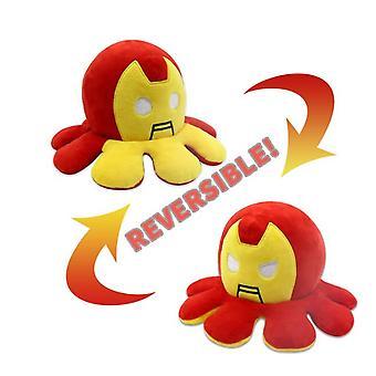 Poupée réversible en peluche Spiderman Iron Man