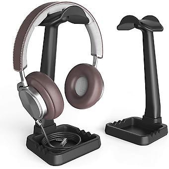 Hörlurs- och mobiltelefonhållare, inbyggd klipporganisatör