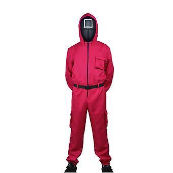 Blæksprutte Spil Skurk Rød buksedragt Maske Cosplay jule kostume Halloween Kostume
