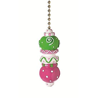 Pink Green White Stack Decorative Ceiling Fan Light Pull