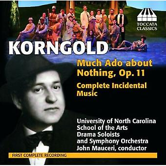 Erich Wolfgang Korngold - Erich Korngold: Much Ado About Nothing, Op. 11 (Complete Incidental Music) [CD] USA import