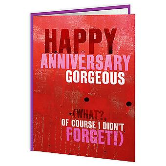 Brainbox Candy Happy Anniversary Red Card