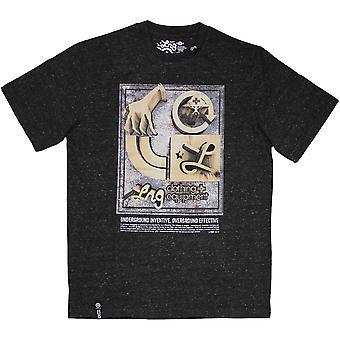 LRG ydin kokoelma seitsemän t-paita musta Heather