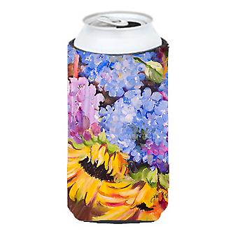 Hydrangeas and Sunflowers Tall Boy Beverage Insulator Hugger