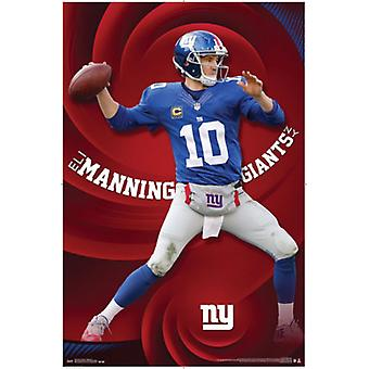 New York Giants - E Manning 15 Poster Poster Print