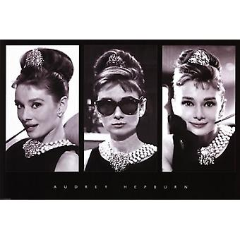 Audrey Hepburn - Triptych Poster Poster Print