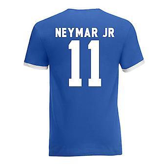 Neymar Brasil Ringer Tee (azul)