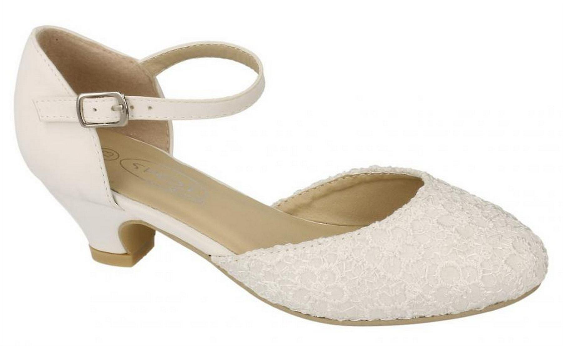 Infant Girls New Ivory Bridesmaid Bridal Ankle Strap Formal Sandals Shoes