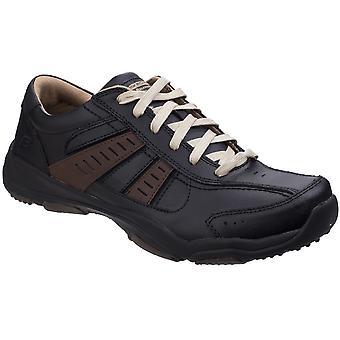 Skechers Mens Larson Nerick lederen Lace Up Casual Trainer schoenen