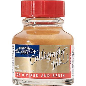 Winsor & Newton Calligraphy Dip Pen Ink 30ml (Gold)