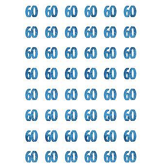 Verjaardag Glitz Blue - 60e verjaardag Prism hangende decoratie