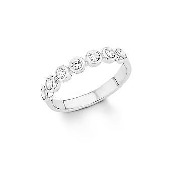s.Oliver juvel damer ring sølv cubic zirconia SO1410