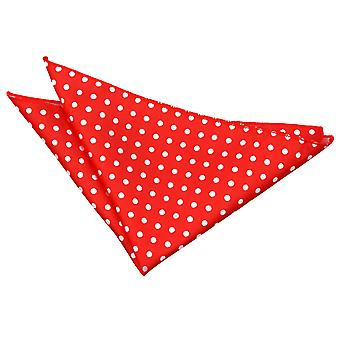 Rød Polka Dot Pocket Square