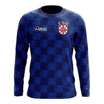 2018-2019 كرواتيا الأكمام الطويلة بعيداً من مفهوم كرة القدم قميص