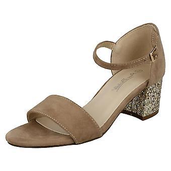 Kära Anne Michelle mitten av Glitter hälen Mule sandaler F10739