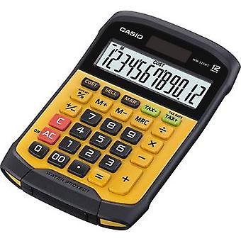 كاسيو WM-320MT مكتب حاسبة الأصفر، شاشة سوداء (أرقام): 12 تعمل بالطاقة الشمسية، تعمل بالبطارية (W x H x D) 145 × 36 × 195 ملم