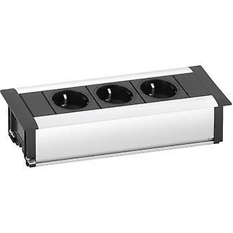 EVOline 159610000900 Socket strip (w/o switch) 3x Aluminium , Black PG connector 1 pc(s)