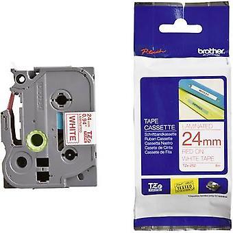 Merking tape bror TZe, TZ TZe – 252 Tape farge: hvit skrift farge: rød 24 mm 8 m